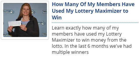 Lottery Maximizer Reviews working
